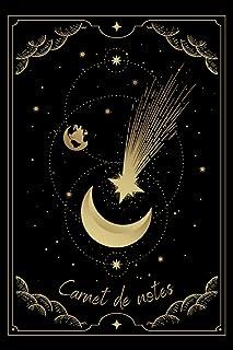 Carnet de notes: Cahier de notes Ligné - Croissant De Lune Avec Carte Étoile Filante Planète Espace - 120 pages - 15,24 x ...