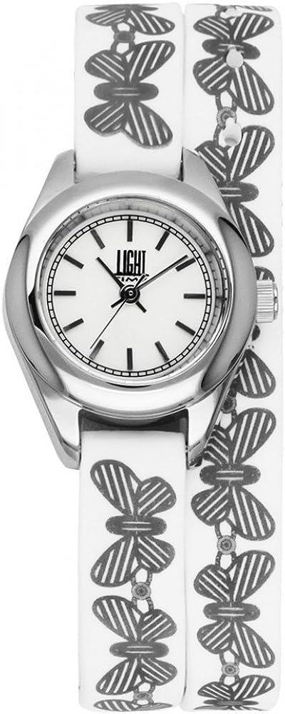 Light time rococo`,  orologio per donna, in acciaio inossidabile con cinturino in silicone 8054726935827