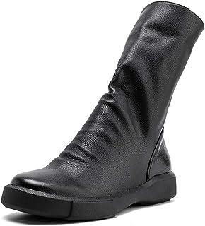 DENGSHENG SHOPS Laarzen voor kinderen, herfst en winter, leer, casual, Martin laarzen, retro, ronde kop, damesschoenen, tr...