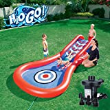 H2OGO! Splash and Play Cannon Ball Inflatable Kiddie Slide Swimming Pool with Electric Pump