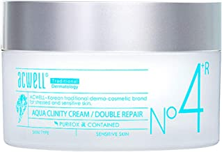 ACWELL Aqua Clinity Cream 1.69 Fluid Ounce (Double Repair) Skin Stress Relief Soothing Moisturizing Cream Sensitive Skin Basic Skincare