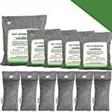 Bamboo Charcoal Air Purifying Bags, Breathe Green Charcoal Odor Eliminator Bags, Nature Fresher Air Purifier Bags, Activated Charcoal Odor Absorber for Home, Car, Closet, Bathroom (500g1,200g4,75g6)