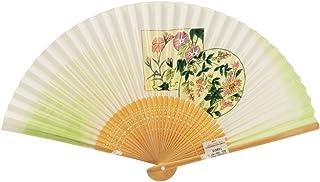 【さらさ】 竹製 和紙 扇子 日本土産 sr-61