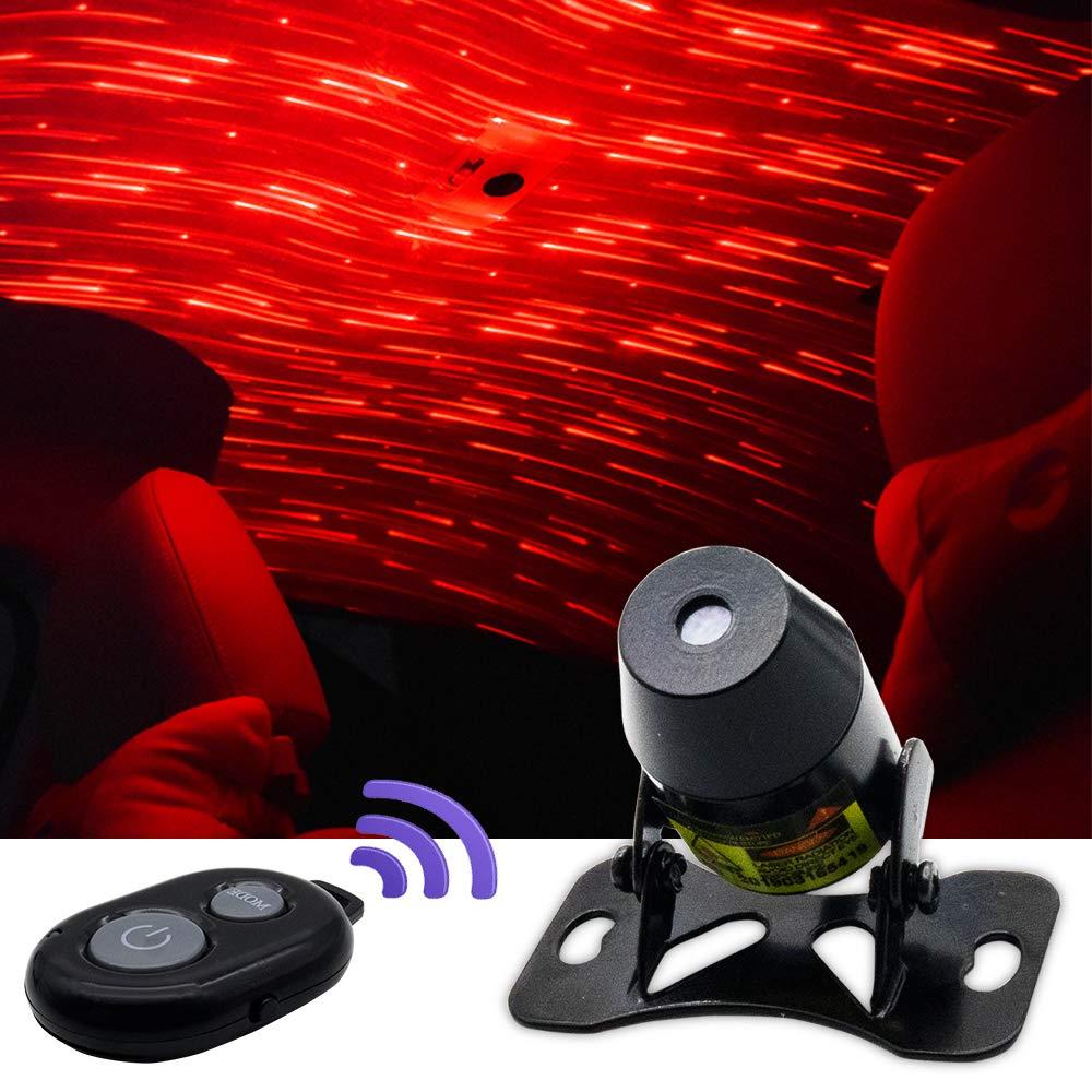 BIMEE car Interior Lights LED Decorative armrest Box car roof Full Star Projection car Interior Atmosphere Lights Car USB Atmosphere Ambient Star Light