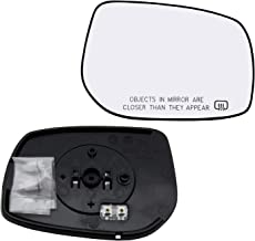 New Replacement Passenger Side Mirror Heated Glass W Backing Compatible With 2009-2013 Toyota Corolla Matrix Sold By Rugged TUFF