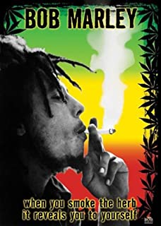 (24x36) Bob Marley Smoke the Herb Quote Music Poster Print