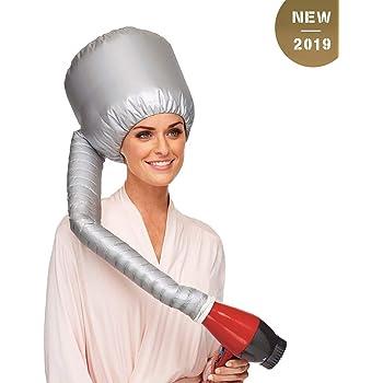 Cuffia Asciugacapelli, GUHEE Portatile Casco Asciugacapelli, Cuffia Termica per Capelli, Casco Capelli per Phon, Safety Hair Dryer Cap per Salone