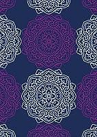 igsticker ポスター ウォールステッカー シール式ステッカー 飾り 1030×1456㎜ B0 写真 フォト 壁 インテリア おしゃれ 剥がせる wall sticker poster 010357 アジアン フラワー 青