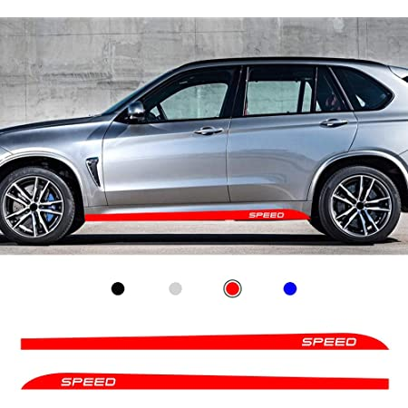 Allyard Für Rv Auto Seite Karosserie Autoaufkleber Wetterfest Streifen Aufkleber Racing Seite Auto Tattoo Karosserie Deco 400 12cm Rot Auto