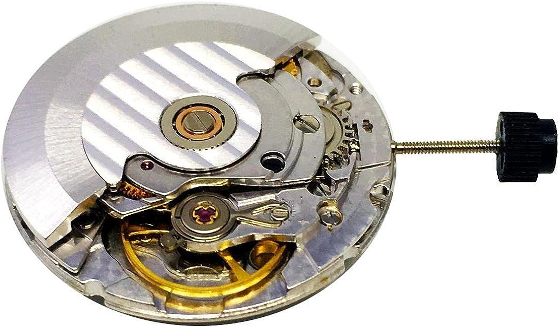 Clon Retro para ETA 2824 2824-2 Movimiento Automático Reloj Blanco/Oro 25 Joyas