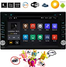 Android 8.1 Car GPS Radio DVD Player 2 Din Android Car Stereo Navigation with WiFi and Bluetooth Quad Core 2GB 16GB 6.2 Inch 1024x600 Capacitive Touchscreen 1080p, Include Free Rear Camera and Remote