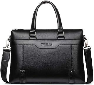 2020Business Casual Men Briefcase Crossbody Laptop Bag Travel Leather Handbag