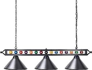 Wellmet Lustre Suspension Billard pour Salle de Jeux Eclairage d'intérieur Salon Lampe de Billard avec Des Billes Réels et...
