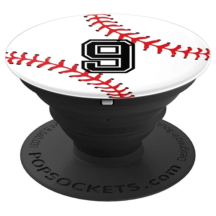 Number #9 Baseball Softball Pop Grip | Sports Pocket Socket - PopSockets Grip and Stand for Phones and Tablets