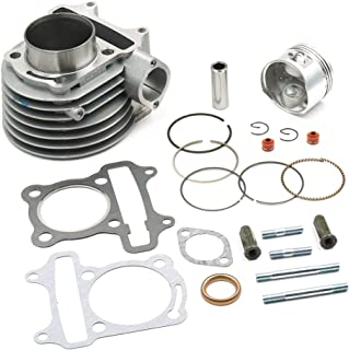 Glixal ATMT1-014 GY6 125cc Chinese Scooter ATV Moped Engine 52.4mm Cylinder kit with Piston Kit for 4T 152QMI JONWAY ZNEN Roketa JCL Taotao Dongfang
