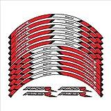 BLOUR Nuevo 12 Uds Pegatinas de Ruedas de Motocicleta Stripe Moto Reflectante protección Decorativa calcomanías de Llantas para BMW F900R f900 r