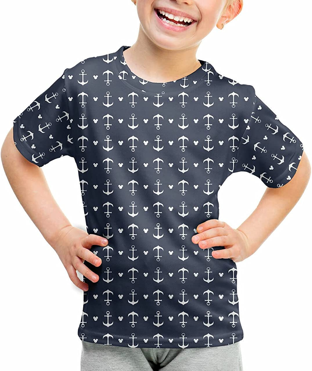 Youth Cotton Blend T-Shirt Ears - Mouse Anchors Choice Soldering