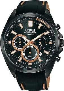 ساعة رياضية كرونوغراف بحزام سليلكون للرجال من لوروس موديل RT383HX9
