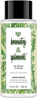 Love Beauty and Planet Conditioner for Unisex, Tea Tree Oil and Vetiver, 13.5 Ounce