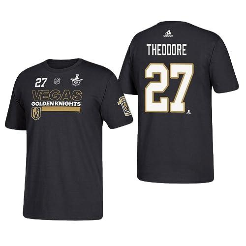 450f0966b adidas Vegas Golden Knights Shea Theodore 2018 Stanley Cup Finals Player T- Shirt