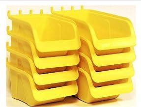 WallPeg Pegboard Bin Kit - Pegboard Parts Storage Craft Organizer Tool Peg Board Workbench Bins Accessories
