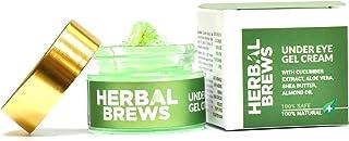 Herbal Brews - Under Eye Cream for Dark Circles for Women & Men- 100% AYURVEDIC ORGANIC Gel Cream with Cucumber, Aloe Ver...