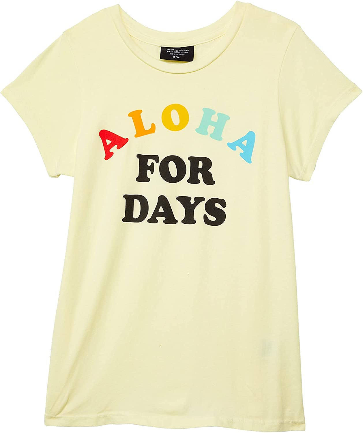 Tiny Whales Boy's Aloha for Days Graphic Short Sleeve T-Shirt (Toddler/Little Kids/Big Kids)