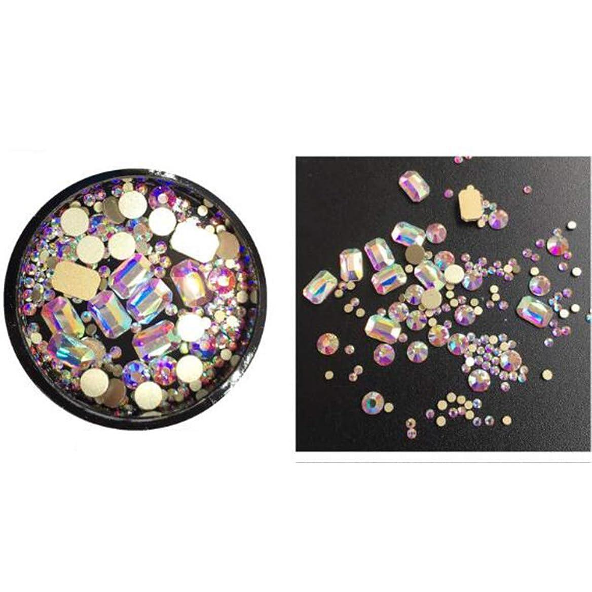 湿地節約ガラスACHICOO ネイルジュエリー ダイヤモンド クリスタル ファッション シマーネイルデコレーション DIY 装飾 ロングアニスABカラーダイヤモンド
