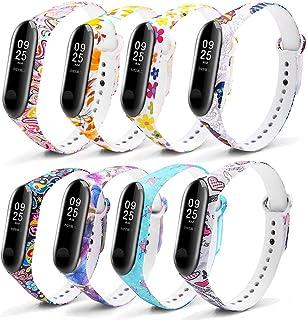 comprar comparacion Monuary 8 Piezas Correa para Xiaomi Mi Smart Band 4 / Mi Band 3 Pulsera, Silicona Reloj de Recambio Brazalete Coloridos Co...