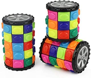 Decompression Magic Cube Cylindrical Magic Cube IQ Education Puzzle Toys for Toddlers and Adults Anti-Anxiety Logic Game (3rd-Order,4rd-Order,5rd-Order)