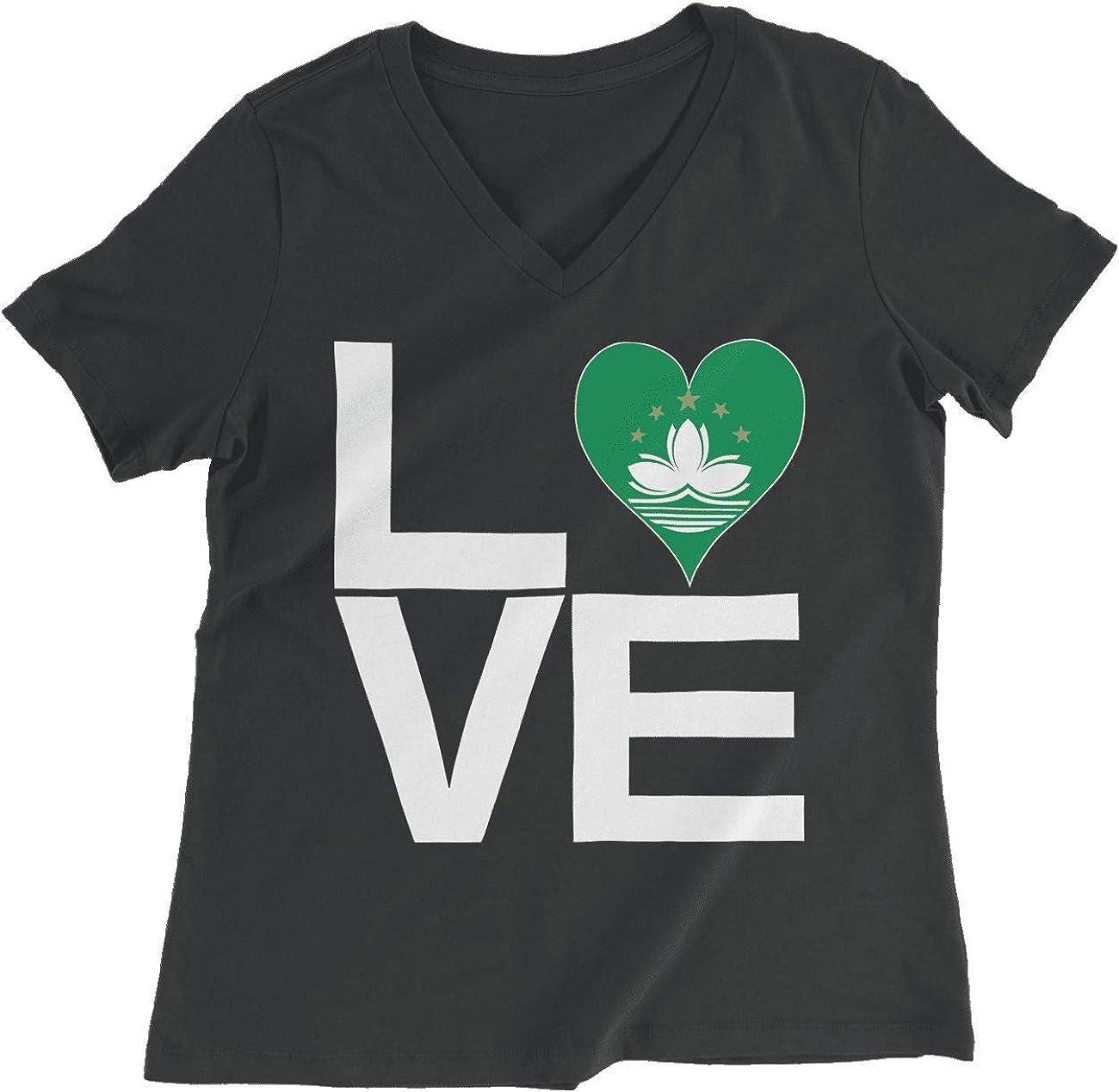 HARD EDGE DESIGN Women's Love Block Macau Heart T-Shirt