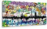 Kunstbruder Moderne Hamburger Skyline - Tags 40x80cm - by