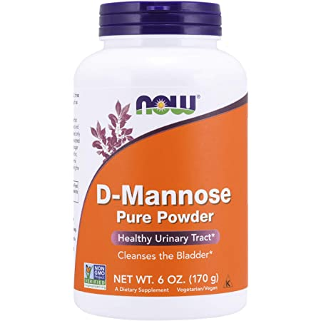 NOW Supplements, D-Mannose Powder, Non-GMO Project Verified, Healthy Urinary Tract*, 6-Ounce