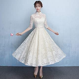 Ladies Dresses Women' Dress Chinese Style Cheongsam Half Sleeves Evening Wedding Party Formal Dress Casual