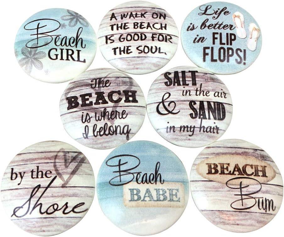 Set of 8 Beach Bum Quantity limited Knobs Award-winning store Cabinet