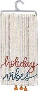 Primitives by Kathy Christmas Boho Dish Towel, Holiday Vibes