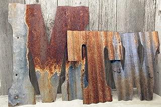 Rusty Tin Letters Rustic Metal Wall Decor 8