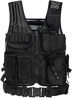 Jipemtra Tactical Airsoft Vest for Kids Outdoor Molle Breathable JPC Vest Game Protective Vest Adjustable Modular Chest Set Vest CS Field Vest Training Vest