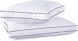 Desle Home Goose Down Feather Pillows for Sleeping Set of 2 Hot Quality Bed Pillows, Standard Queen