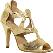Salabobo AQQ-7008 Womens Latin Tango Ballroom 4 Inch Heel Dance Shoes