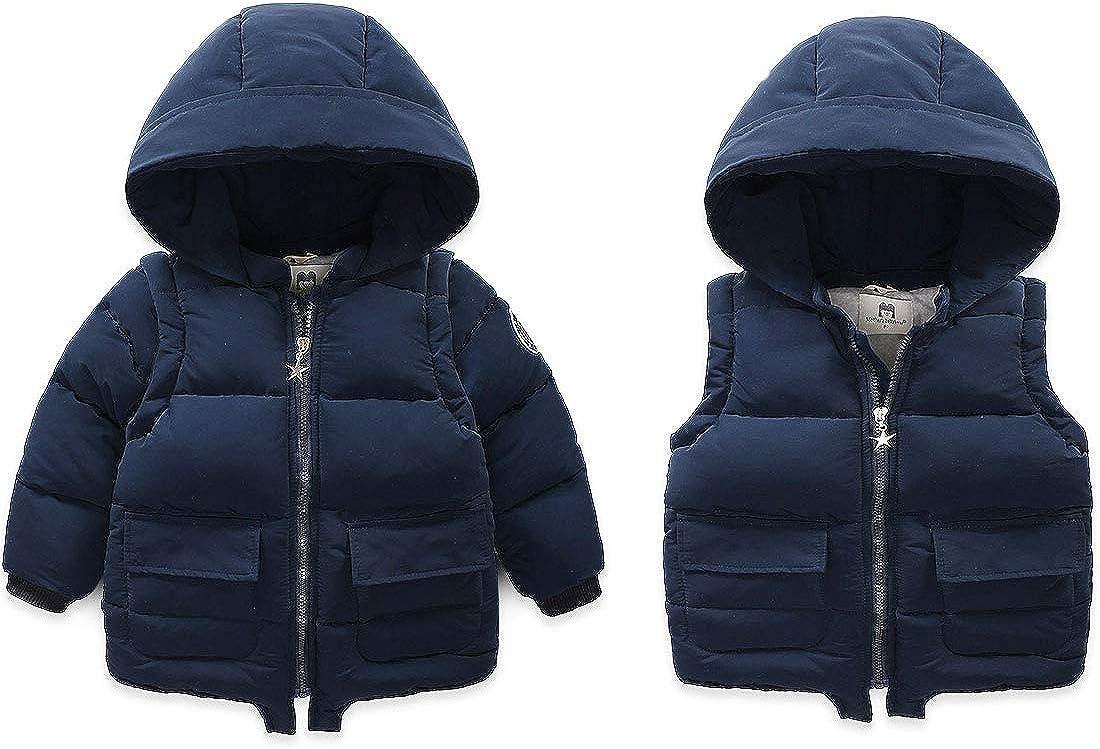 Fairy Baby Boys Girls Hooded Snowsuit Winter Warm Fur Collar Coat Hooded Down Windproof Jacket Outerwear