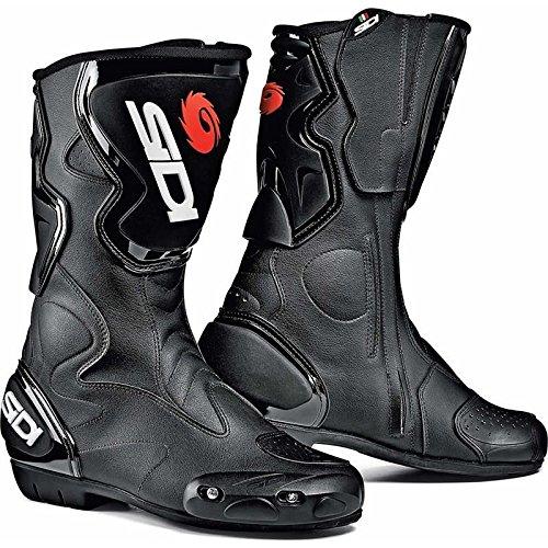 Sidi Fusion schwarz Motorrad Sport Stiefel + kostenloser Socken New