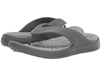 Crocs Reviva Flip (Slate Grey/Light Grey) Sandals