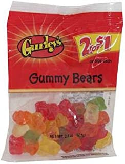 Gurleys 2/$1.00 Gummy Bears, 12 Count (SUGAR CANDY - PEG-BOARD BAGS)