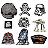 Yelshan 9PCS Star Wars Embroidered Applique Patches Accessories (Sew On/Iron On) for DIY Apparel/Bags Decoration