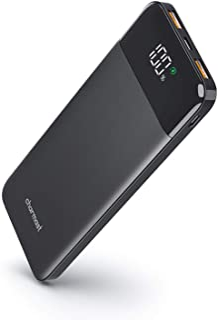 باور بانك محمول رفيع صغير بقدرة 10000 مللي امبير في الساعة من تشارماست، 18 واط، USB C، شحن سريع، بطارية احتياطية، طاقة مقد...