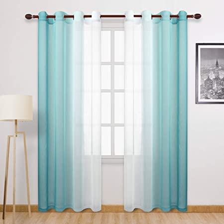 Zen Blend Indigo Nursery long Zig zag teal ivory white drapery Chevron curtains navy dark blue curtain panels Window treatments