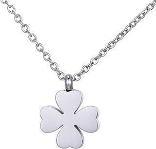 8515168cd05627 Morella collana da donna in acciaio inox argento con ciondolo in sacchetto  di velluto