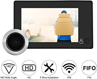 Digital Door Viewer,Peephole Viewer Camera,Door Eye Camera,4.3-inch LCD Color Display Door Bell Camera,Home Smart Security Camera Visual Door Electronic Cat Eyes with with 140° Wide Angle Monitor