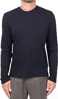 MAJESTIC FILATURES MOD. M537-HTS023 - Camiseta de cuello redondo de algodón Silk Touch para hombre, azul
